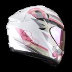 Blanc perle-Rose-Vert
