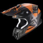 Noir mat-Orange