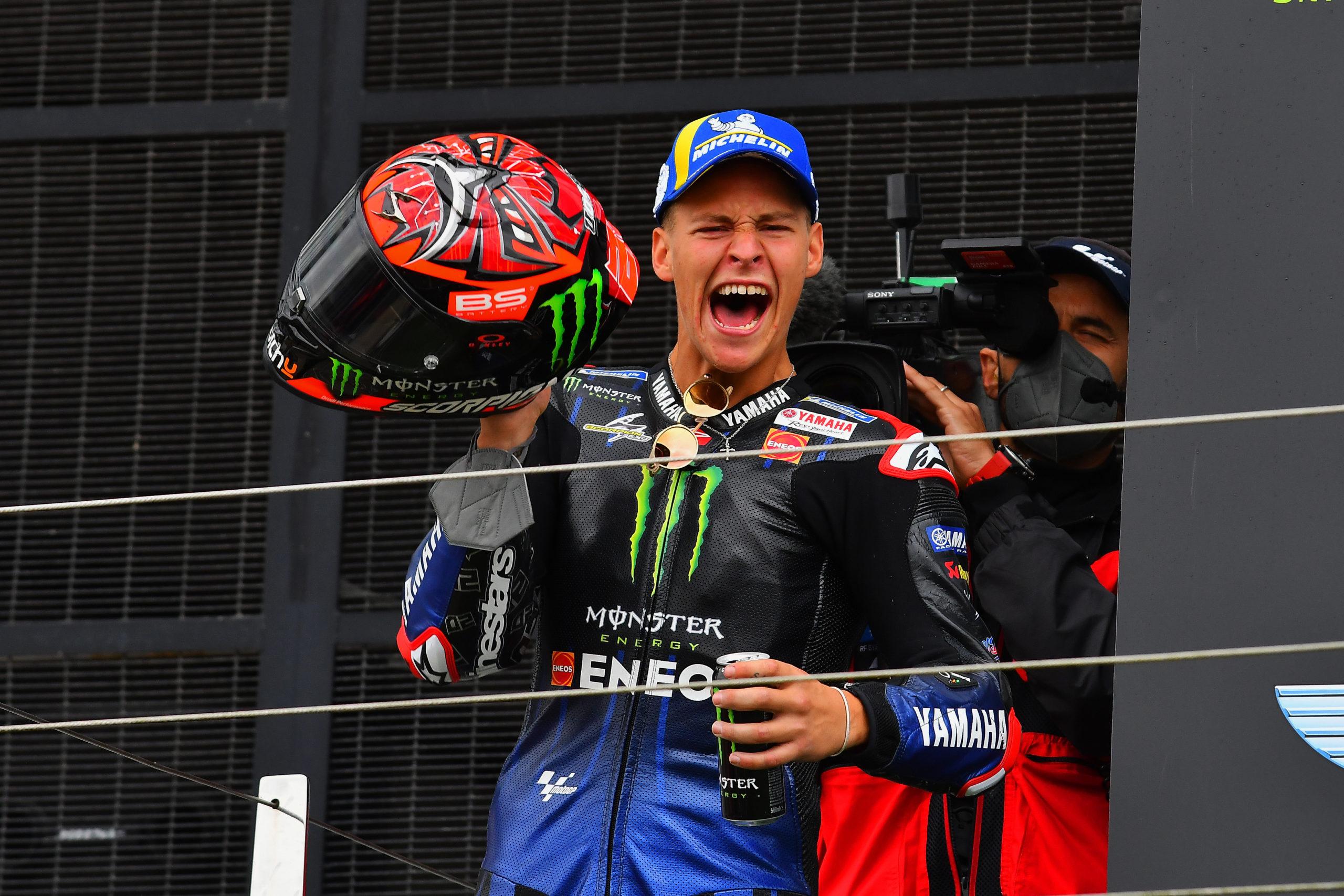 Fabio QUARTARARO takes the win at British MotoGP