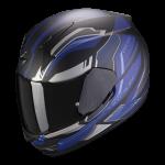 Noir mat-Argent-Bleu